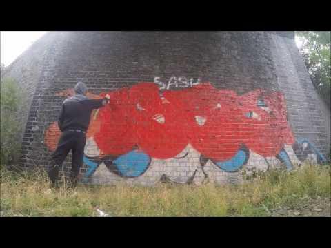 Cosey Trackside Bombing Graffiti