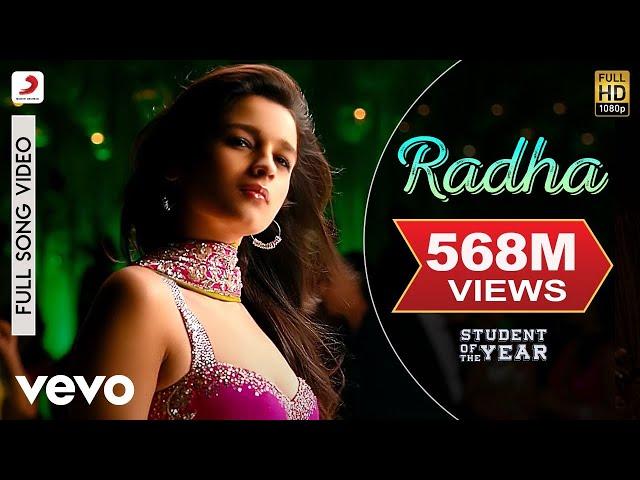 Radha Lyrics Translation | Student Of The Year | Hindi Bollywood Songs