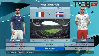 Mecz Francja Islandia 1/4finału EURO2016 PES2016