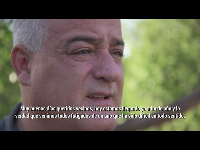 El mensaje de fin de año del Intendente de Tafi Viejo, Javier Noguera