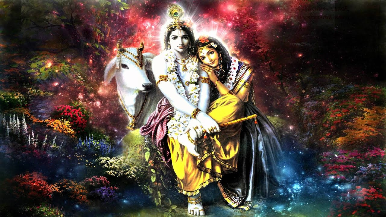 Lord Krishna Hd Wallpapers For Desktop Yamuna Devi Govindam Adi Purusham Youtube