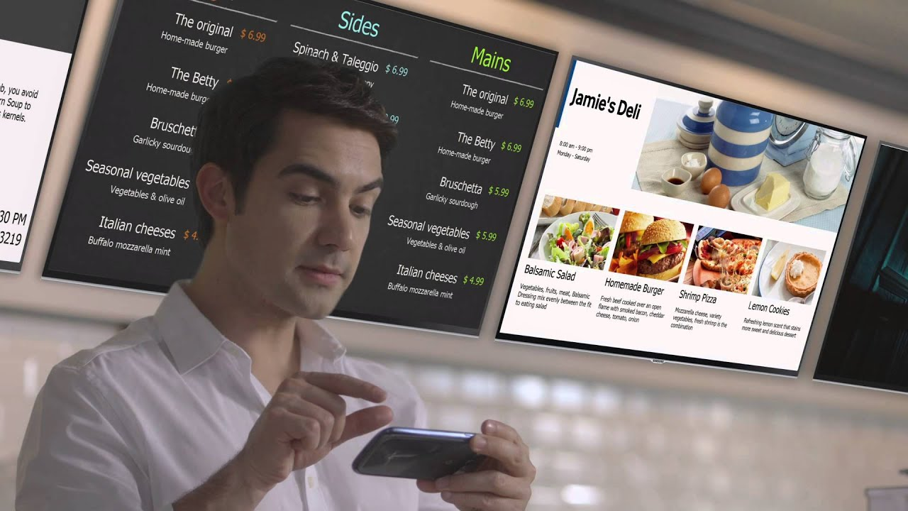 Samsung  SMART Signage TV for the Real World
