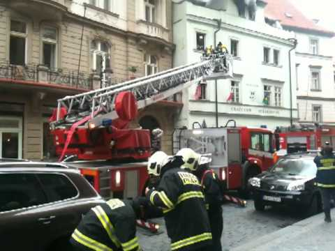 Crazy Cow in the fire - Prague