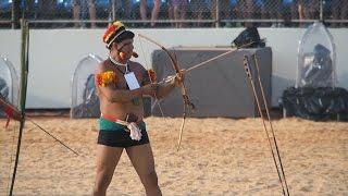 Etnias mexicanas participan en los Juegos Mundiales Indígenas de Brasil en tiro con arco