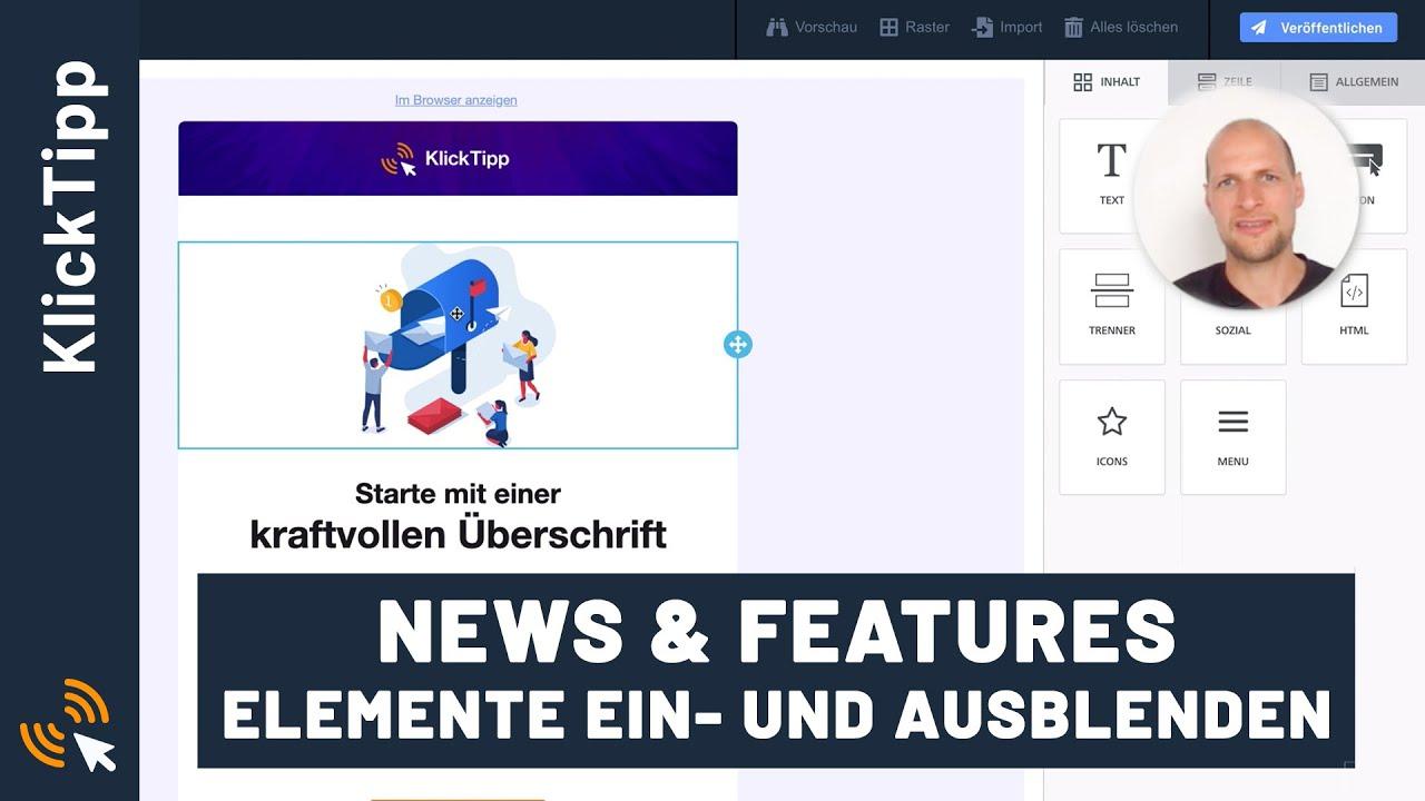 E-Mail-Editor - Blöcke für Mobile & Desktop separat ein- und ausblenden