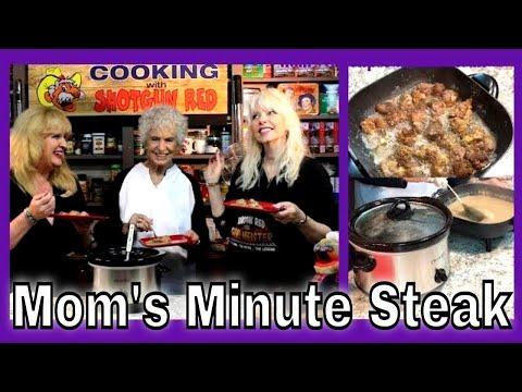 Mom's Crockpot Minute Cube Steak with homemade gravy