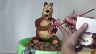 """Торт """"Девочка и Медведь"""""""