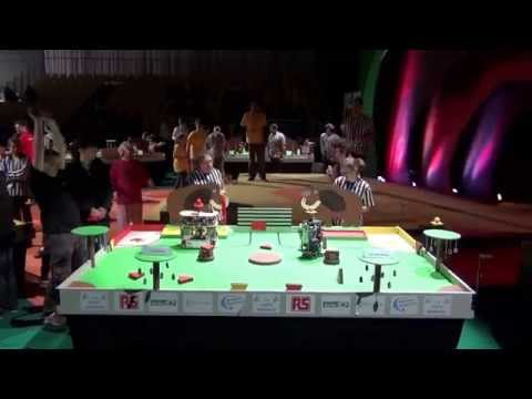 2014 - PM-ROBOTIX vs ENSTA Bretagne - Match5 - Coupe de France de Robotique 2014
