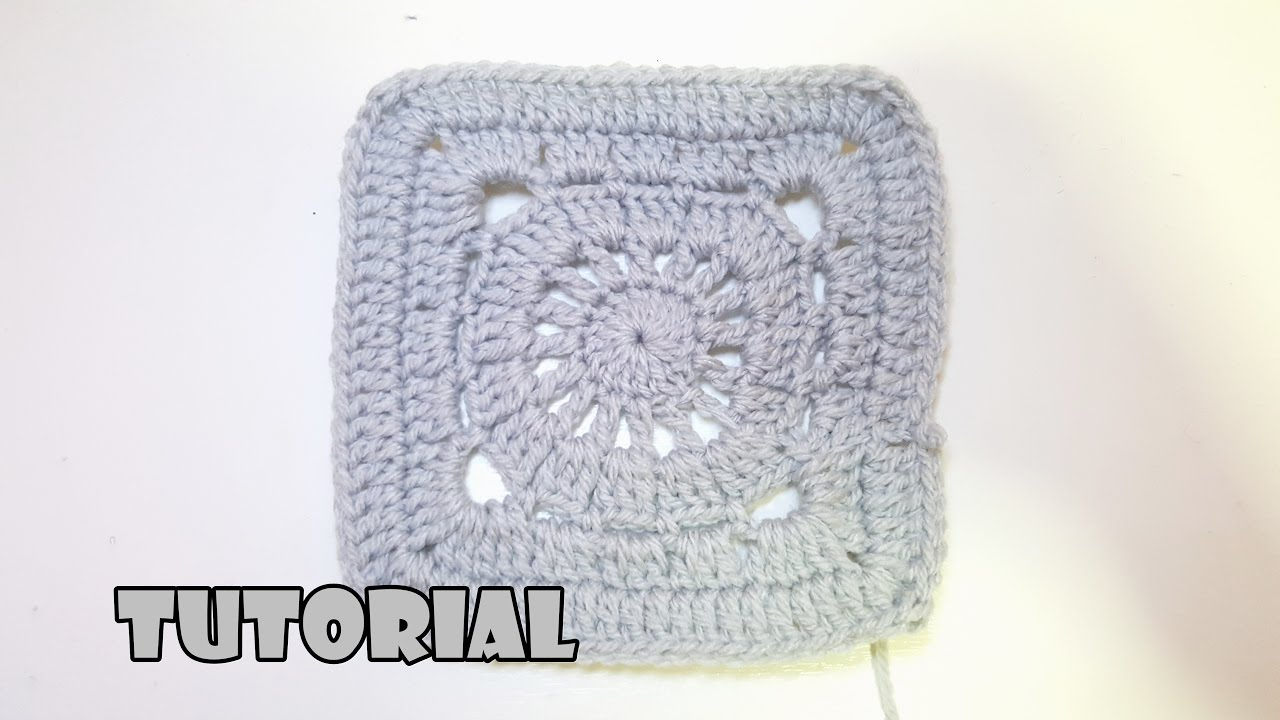 Tutorial quadrato mattonella all uncinetto per coperta crochet