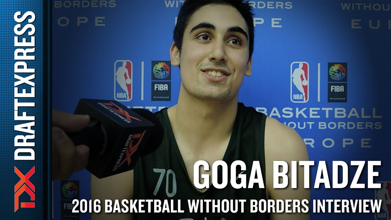 Goga Bitadze Interview from NBA Basketball Without Borders Europe Camp - YouTube