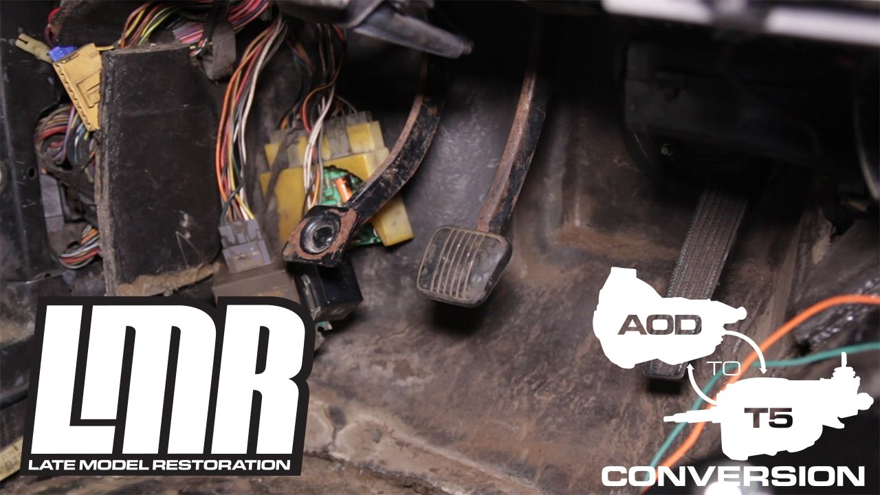 medium resolution of how to mustang aod to t5 transmission swap part 2 1984 1993