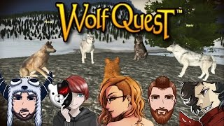 Wolf Quest: Steam Edition ~Raise Pups Multiplayer Attempt 1~ HARDEST DIFFICULTY