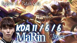 MaRin JAYCE vs MALZAHAR Top - Patch 6.24 KR Ranked