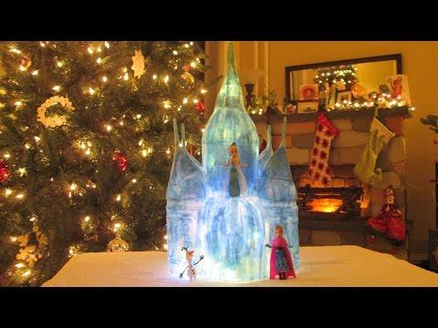 DIY: Papier-mâché Frozen-inspired Ice Castle Tutorial, it lights up!