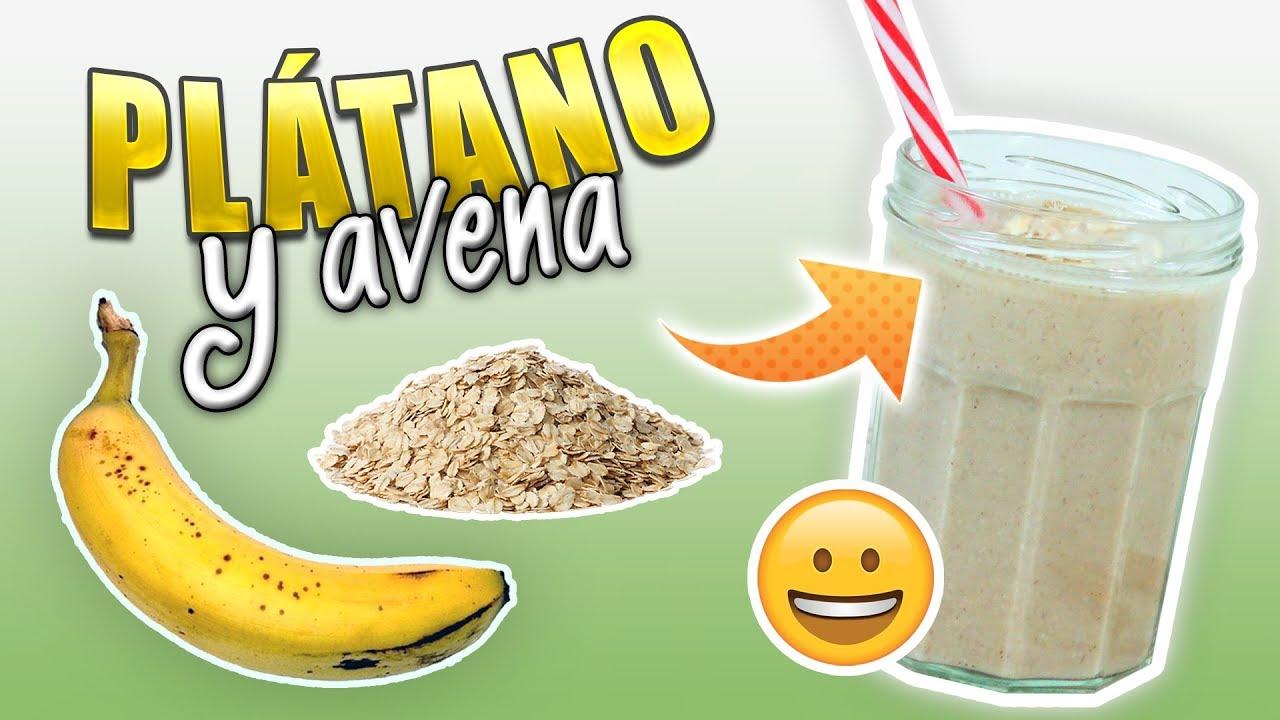 Batido De Plátano Y Avena Para Aumentar Masa Muscular Licuado De Proteínas Casero Youtube