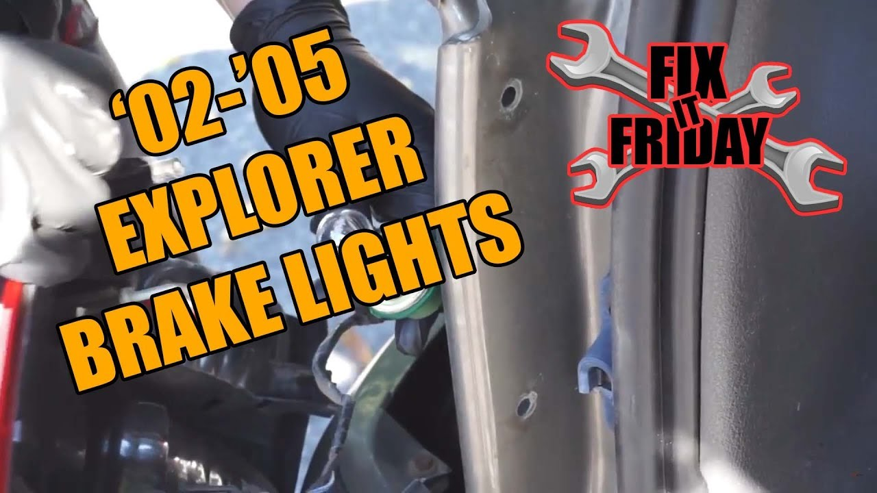 replace brake tail light 2002 2005 ford explorer [ 1280 x 720 Pixel ]