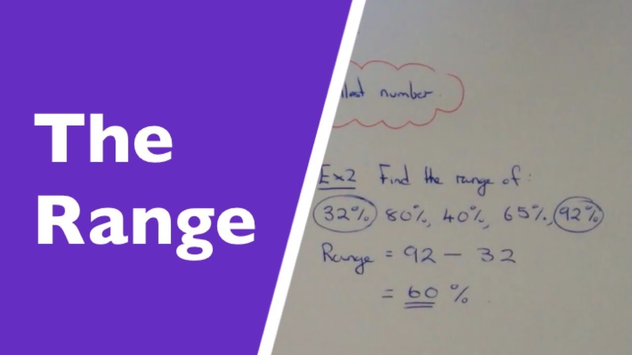 How To Calculate The Range From A List Of Numbers