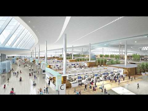 Liu Gang talks about the new Qingdao International Airport Building in China