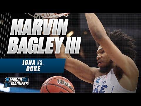 Duke\'s Marvin Bagley III dominates in his NCAA Tournament debut