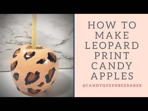 How to Achieve a Leopard print Candy Apple