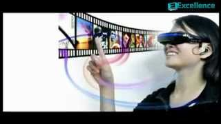 Virtual Display Video Glasses - Private Cinema Glasses With Large 52 Inch Virtual Display