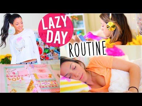 Lazy Day Routine 2015   Niki and Gabi