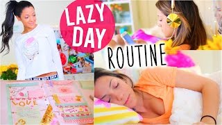 Lazy Day Routine 2015 | Niki and Gabi