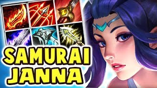 JANNA HAS A SWORD NOW?! NEW SKIN SACRED SWORD JANNA JUNGLE | FULL AD WHY DOES THIS WORK?? Nightblue3