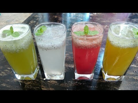 4 REFRESHING DRINKS TO BEAT THE HEAT IN SUMMER || 4 REFRESHING SUMMER DRINKS || SUMMER DRINKS
