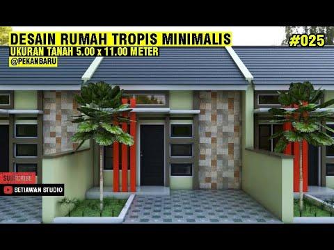 desain rumah 5x11 meter dengan 2 kamar tidur, konsep