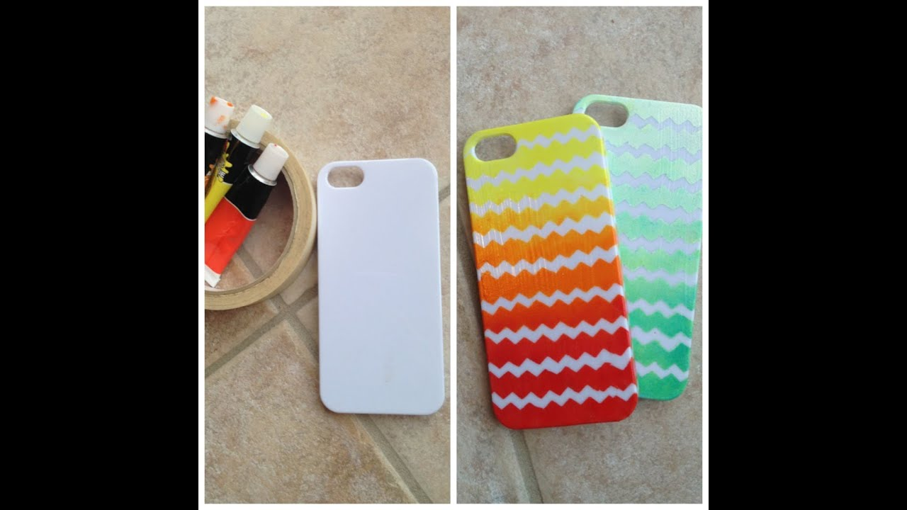 Diy Ombre Chevron Case Youtube