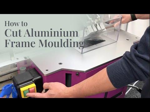 Cutting Aluminium Frame Mouldings - YouTube