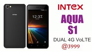 Intex Aqua S1 with dual 4G VoLTE support launched with Nougat 7.0