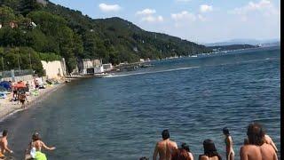 Trieste, motoscafo contro un muro: il momento dello schianto