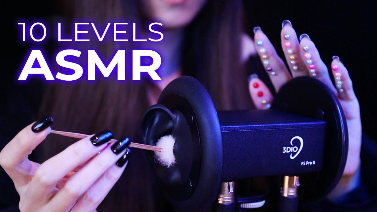 ASMR 10 Levels of Intense Ear Triggers (No Talking)