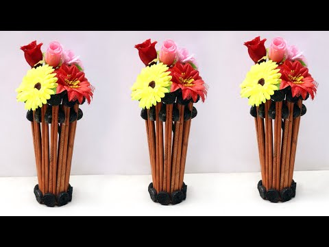 WOW !! DIY Paper Flowers Craft || How to Make Flower Pot Using Paper