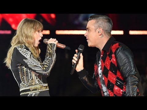 Robbie Williams and Taylor Swift Angels  at Wembley