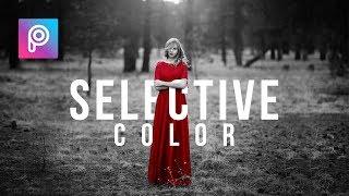 Edit Foto Kekinian - Cara Edit Foto Selective Color dengan Picsart - PicsArt tutorial Indonesia