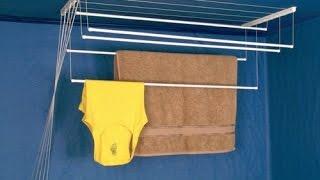 Сушилка для белья потолочная Zalger Lift Comfort 120см(Сушилка для белья потолочная Zalger Lift Comfort длиной 120см. Установка потолочной сушилки занимает в среднем 30-50..., 2015-05-21T15:43:40.000Z)