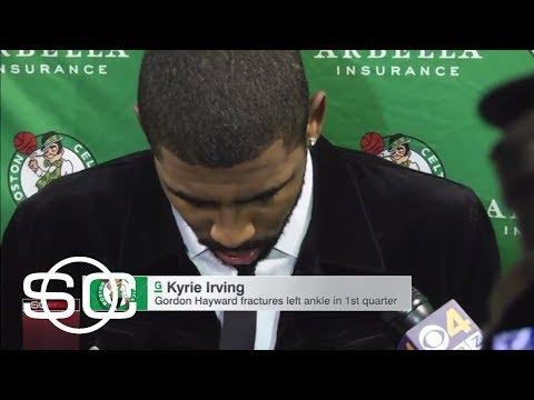 Kyrie Irving sending well wishes to Celtics teammate Gordon Hayward   SportsCenter   ESPN