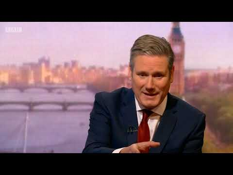 Shadow Brexit Secretary Sir Keir Starmer on The Andrew Marr Show