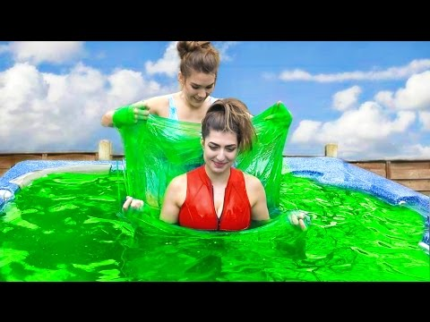 Thumbnail: 5000 Pounds Of Slime In Hot Tub!