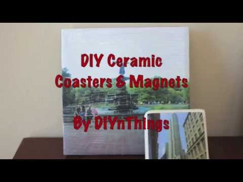 DIY Ceramic Coasters & Magnets