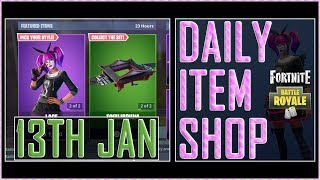 Fortnite Daily Item Shop BR (13th Jan 2019) Lace & Paradox Featured skins - Battle Royale