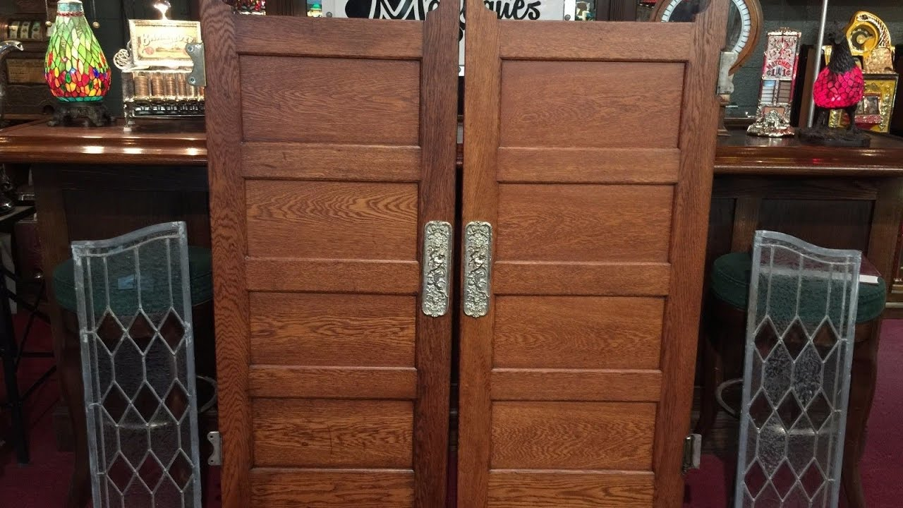 Antique Swinging Saloon Doors 1900's For Sale $2,695 - Antique Swinging Saloon Doors 1900's For Sale $2,695 - YouTube