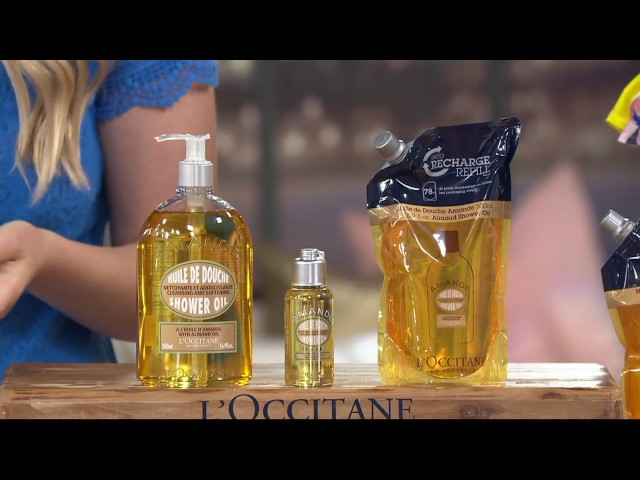 LOccitane Almond Shower Oil Trio on QVC