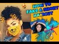 Fake a short haircut with shoulder length hair! | Protective style for naturals