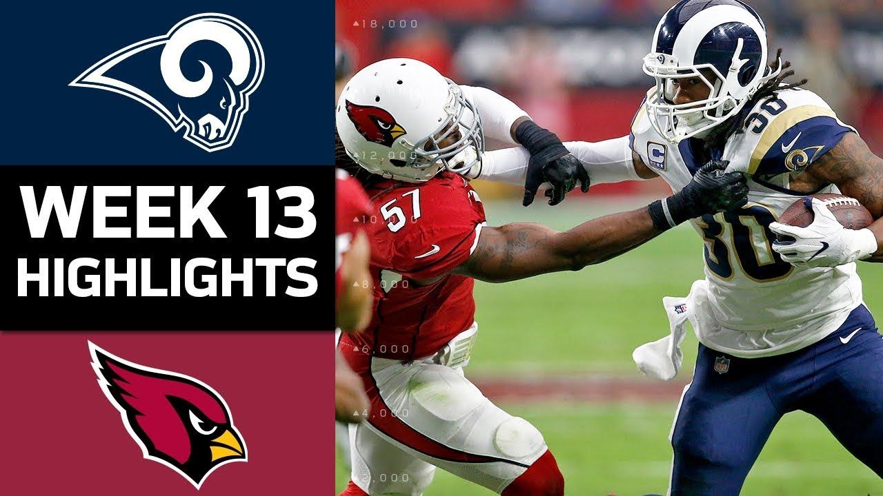 Rams Vs Cardinals Nfl Week 13 Game Highlights Youtube