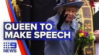 Coronavirus: Queen Elizabeth II to make rare UK address   Nine News Australia