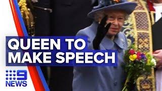 Gambar cover Coronavirus: Queen Elizabeth II to make rare UK address | Nine News Australia